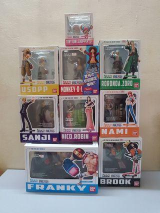One Piece Figuarts Zero Mugiwara Pirate New World Set of 9