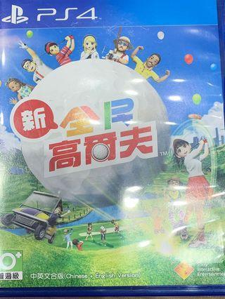 「花枝女」PS4 二手 新全民高爾夫 實體光碟 中文版