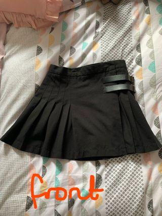 Black Hell Bunny skirt with buckles