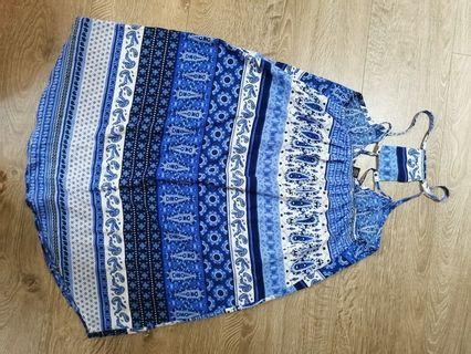 藍色民族風  3洋裝