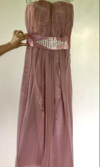 Old rose long formal gown