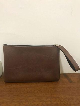 Dark Brown Clutch Bag
