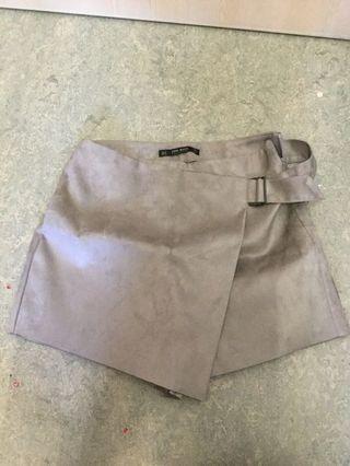Beige Zara Skirt/Shorts combo