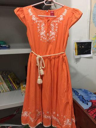 Hush Puppies orange dress with nice embroidery