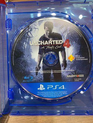 「花枝女」二手 PS4 秘境探險 4 盜賊末路 中英文 Uncharted 4 : A Thief's End