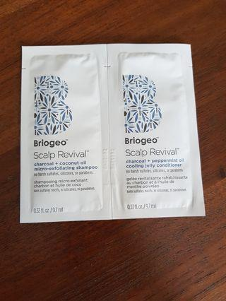 Briogeo scalp revival charcoal samples