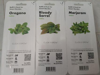 Click and Grow herb pods