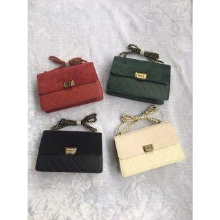Sling Bag suede Charles and Keith