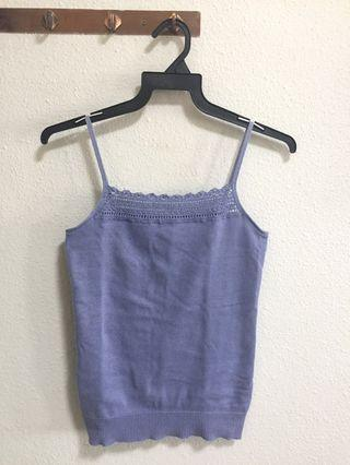 Blue Knitted Camisole