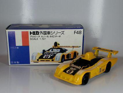Tomy Tomica ~ F48 RENAULT ~ 1978 年生產 MADE IN JAPAN 日本制,NEW OLD STOCK, 全新庫存品, 零瑕疵