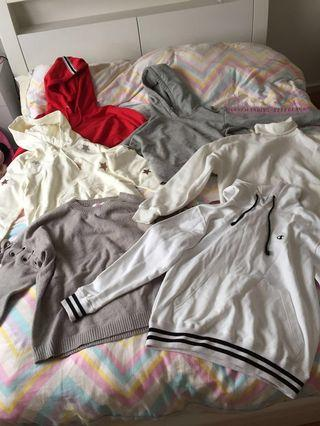 Assorted jumpers