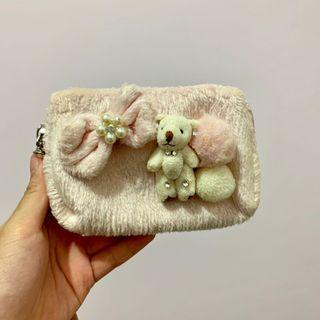 Cute pink pouch / clutch