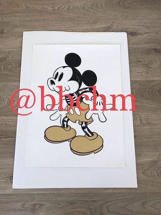 Golden Creepy Mouse Art Print 2018