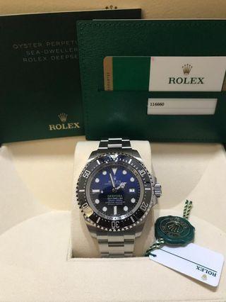 🚚 BNIB Rolex Deepsea Blue