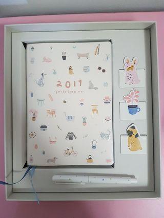 2019 calendar notebook