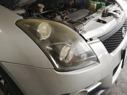 Suzuki Swift rare hid headlights restore
