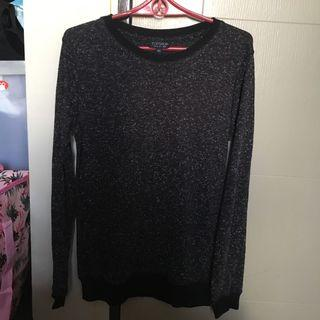 Topshop long speckled sweater