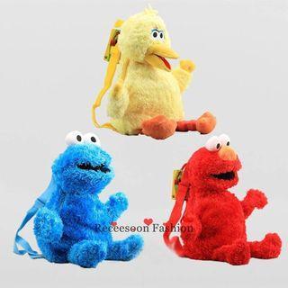 Sesame Street big bird Elmo Cookie Monster bag backpack