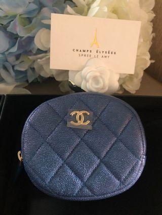 Chanel iridescent coin case