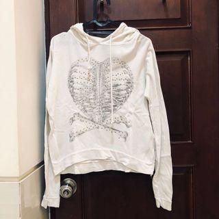 Preloved ZARA white hoodie