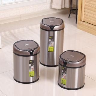 🚚 [Automatic sensor intelligent electric trash can] stainless steel large with lid household free pedal trash can JAH