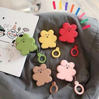 Teddy biscuit Airpods cover with key ring