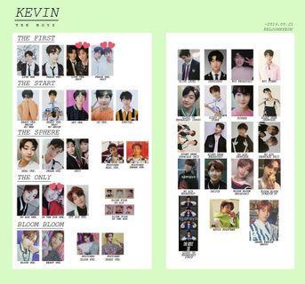 THE BOYZ KEVIN PHOTOCARDS 2017~2019