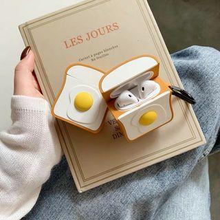 Eggs and toast Airpods case