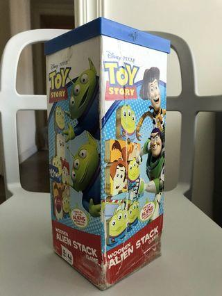 Toy story wooden alien stack game