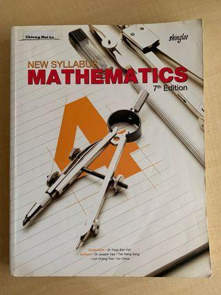 Sec 4 Math Textbook