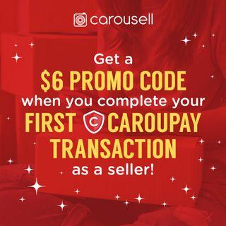 Complete your first CarouPay transaction and win a $6 promo code!
