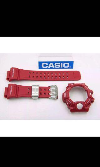 100% Authentic new sealed Casio G-Shock Men in Rescue Red Rangeman GW-9400RD-4 Band and Bezel Set rare