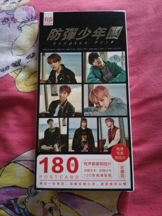 BTS Postcard with sticker