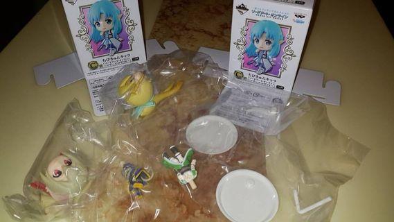 刀劍神域 西莉卡&莉法figure連盒+由紀膠掛(*不散賣)