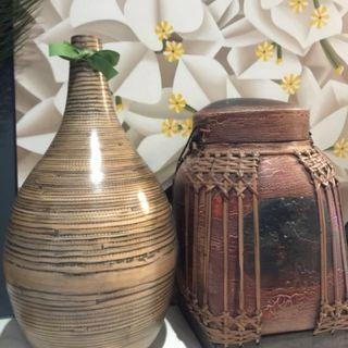 Bamboo Vases & Rice Container