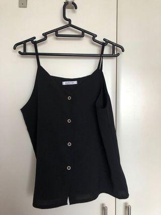 🚚 Black top x2 (size m)