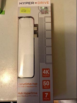 MacBook Pro USB drive hub HYPER 分插器