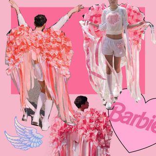 粉紅蝴蝶結🎀翅膀 少女 Cos 造型 派對租借