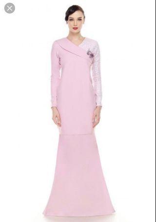 Wanzar Kurung Moden Pink S size