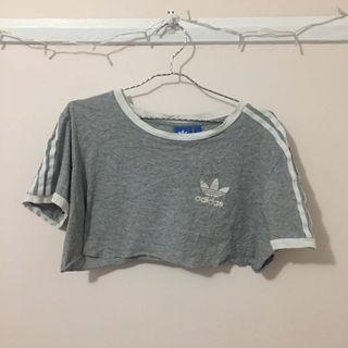 Grey Adidas Crop Top