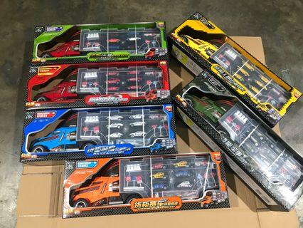 Brand new truck toys with cars birthday gifts