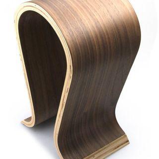 Wooden Omega Headphone Stand