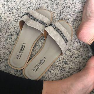 🚚 chained sandals (grey)