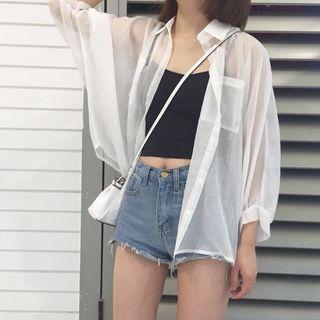 🚚 透透ㄉ白色襯衫