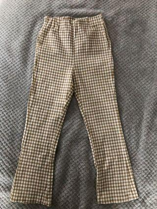 Brownish Yellow Gingham Pants