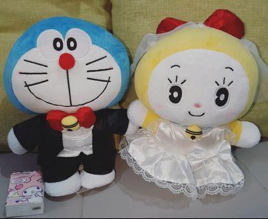 全新有套!!!多啦A夢❤Doraemon❤多啦美❤叮噹❤結婚公仔❤100%日本直送,全新有吊牌,有完全未開封的。