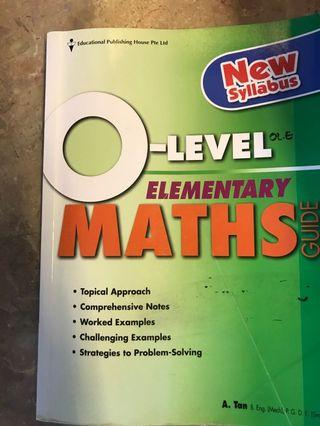 🚚 O Level Elementary Maths Guide