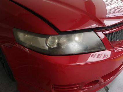 Honda CL7 headlight restore