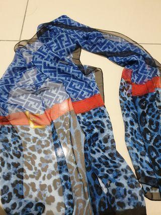 Fendi inspired scarf