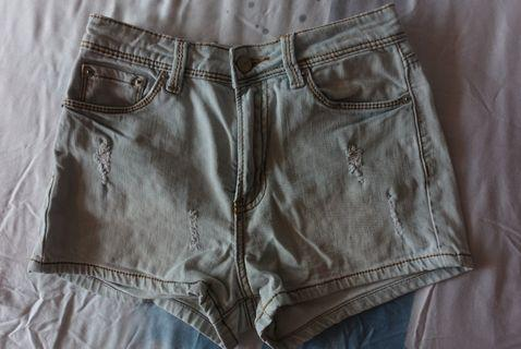 ROMP ripped denim shorts